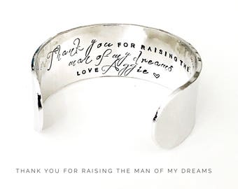 Thank you for Raising the Man of My Dreams | Grooms Mother Gift | Mother in Law Gift | Wedding Gifts | Wedding Party Gifts By Glam (W291)