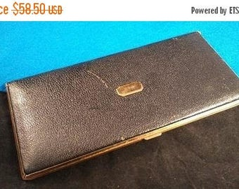 ON SALE METALFIELD Signed Art Deco Cigarette Case 1930's 1940's Collectible Tobacciana - Man Cave Home Decor - Gift For Him - Father's Day G