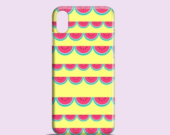 Watermelons lace iPhone X case / iPhone 8 / 8 Plus / Funky iPhone 7 / iPhone 7 Plus / yellow iPhone Se / iPhone 6S, iPhone 6, iPhone 5S/5