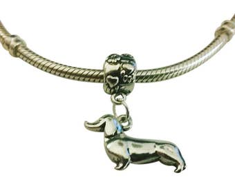 Dachshund Charm for Bracelet - Doxie Charm - Silver Dachshund Charm - Dachshund Charm - Fits all Charm Bracelets - Christmas Gifts for Her