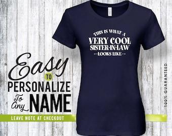 Sister-in-law gift, family, family shirt, birthday shirt, birthday gift, personalized gift, tshirt, shirt, birthday, family tree, 40s, 50s