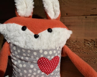 Plush pouch from recycled clothing