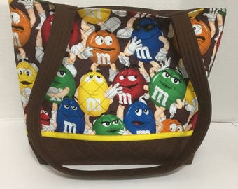 MMs Quilted Purse - Quilted Tote - MMs Tote Bag - Market Bag - Shopping Bag - Beach Bag - NHL Purse - Shoulder Bag
