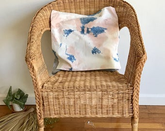 Pastel Pillow Naturally Dyed Indigo and Cutch