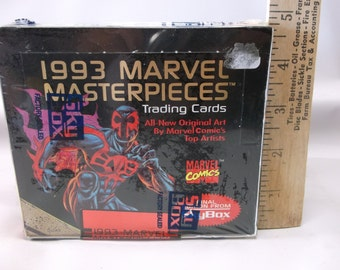 Marvel Comics Vintage Unopend 1993 Skybox Marvel Masterpieces Non Sports Trading Card Box 36 Packs.epsteam