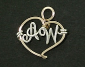 Belly Ring Charm, Heart, Gold, Silver, Initials, Name, Loved One, Wedding Gift, Bridesmaid Gift, Sweetheart