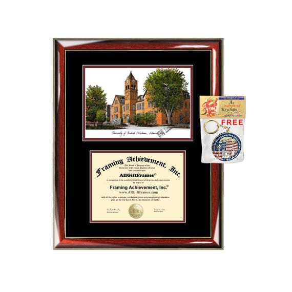 University of Central Oklahoma diploma frames lithograph UCO
