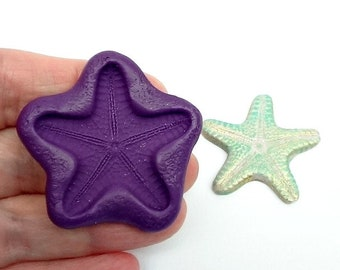 36 mm Starfish back - Silicone Flexible Mold - for Polymer Clay, Resin, Porcelain, PMC, Paper clay, soap, chocolate, baking and crafts