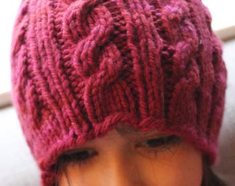 Adult Merino Cabled Hat