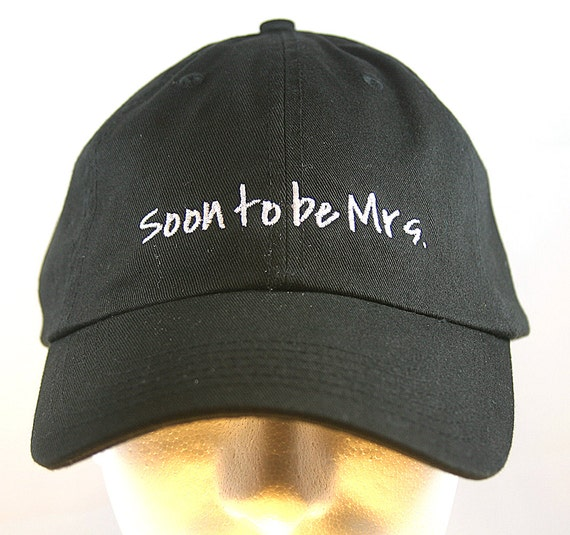 Soon to be Mrs.  - Ball Cap (Black with White Stitching)