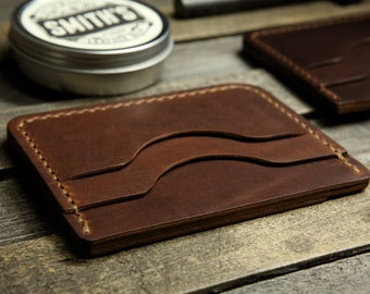 Minimalist Handmade Front or Any Pocket Leather Wallet.