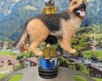 Wine Stoppers German Shepard K9 Dog lover puppy pet Canine party bar gift