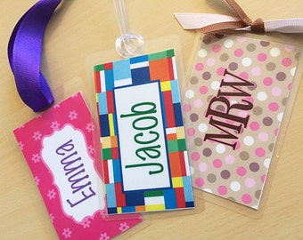 Personalized Bag Tag, Personalized Travel Tags, Kids Luggage Tags, Personalized Tags, Backpack Tag, Suitcase Tag, Bag Tag, Name Tags