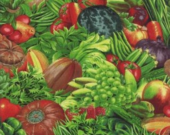 Vegetables, Fresh Picked by Moda, Vegetable Fabric, Garden Fabric, 05003