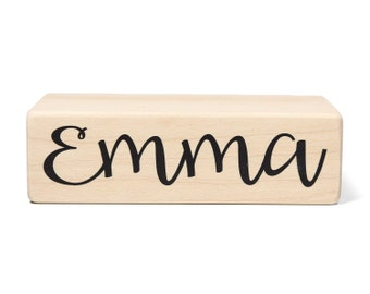 Name Block Add-On - Baby Age Blocks - Baby Milestone Blocks - Solid Hard White Maple - Months, Years, Weeks, Grade