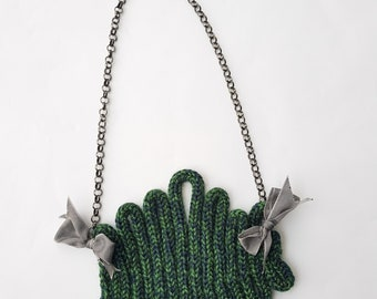 OOAK Handmade Knitted Necklace