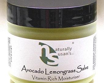MOISTURIZERS - Avocado Lemongrass  / Rose Salve - All Natural Nourishing