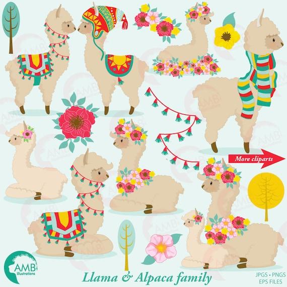 llama clip art llama clipart alpaca clipart for rh etsy com llama clipart free llama clipart black and white