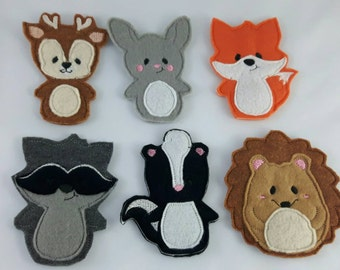 Woodland Animal Felt Finger Puppets