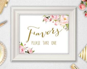 Favors Sign // INSTANT DOWNLOAD // 5x7 // 8x10 // Favors  // Wedding // Bridal Shower // Printable // #PBP85