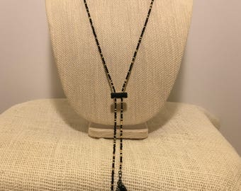 Black and Gold Saworski beaded necklace.