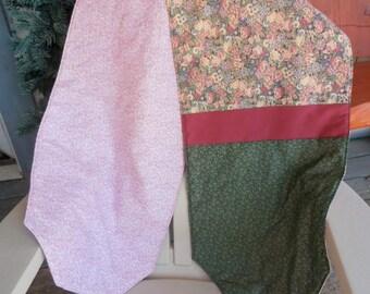 Floral Print Table Runner,  Green Table Runner, Cranberry Table Runner,  Quilted Table Runner
