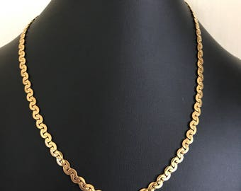 Lovely 18 inch Gold Plated Reversible Decorative Link Chain