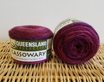 Wool Blend Sock Yarn, Gradient Sock Yarn, Cassowary by Queensland Collection, Crimson 03