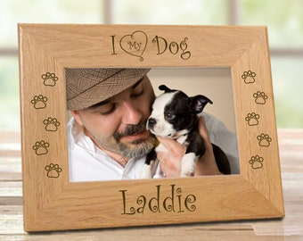 I Love My Dog Picture Frame