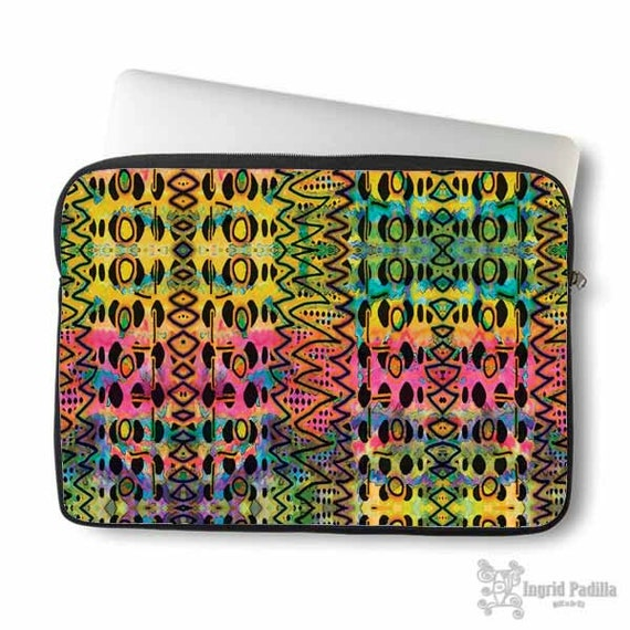 Aztec, Laptop Sleeve, Laptop bag, laptop case, tribal, neoprene, macbook, sleeve, Macbook case, Laptop Cover, Abstract, Art on Laptop case