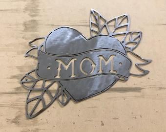Mom Heart - Metal Art