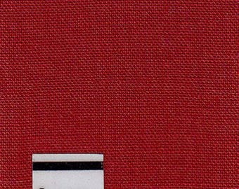 Red cotton fabric, cotton Poplin by 10 cm