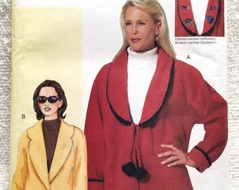 Vogue 7359, Today's Fit, Sandra Betzina, Misses Petite Jacket Sewing Pattern, US Sizes 10, 12, 14, 16