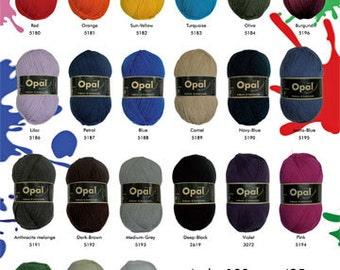 Sockyarn 4ply sock and jumper yarn 100g 425m Opal Nr 5194 plain solid uni colour beautiful quality knitting yarn choose from 20 colours
