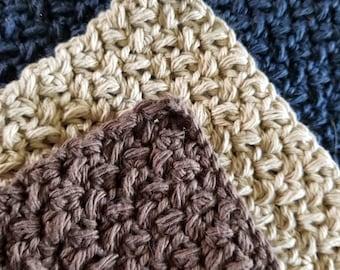 Textured Crochet Dishcloth Set