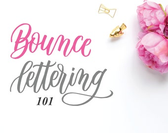 Bounce Lettering 101 (Worksheets)