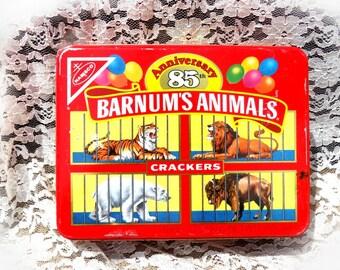 Barnum's animals crackers tin - Collectible Nabisco Barnum's Tin, collectible tin - dated  1987  # 41