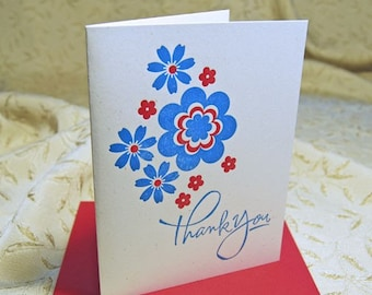 Floral Letterpress Thank You Notes