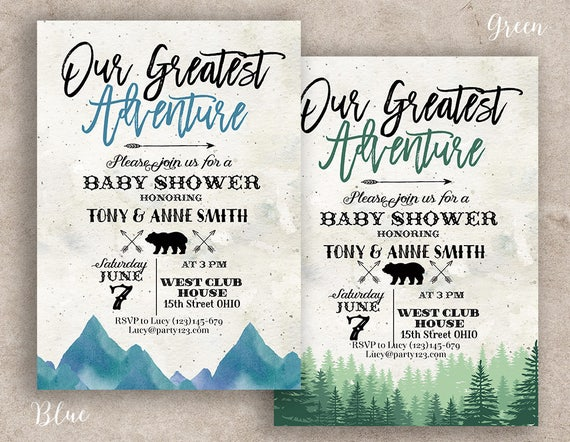 Greatest Adventure Baby Shower Invitation Greatest Adventure