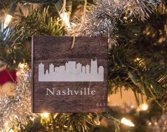 Nashville skyline ornament Tennessee Christmas ornament