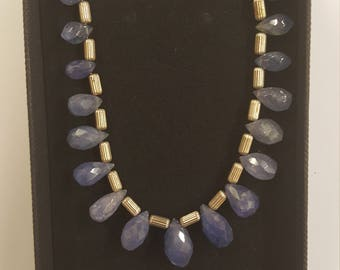 Tanzanite sterling silver necklace