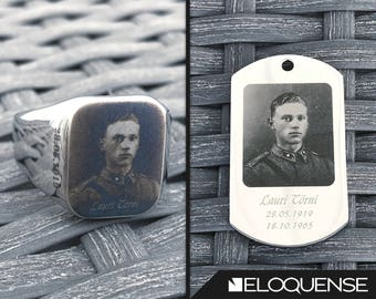 Lauri Törni/Larry Thorne Commemorative Pack, Lauri Törni Muisto Pakkaus, Lauri Törni Pendant, Lauri Törni Ring - Laser Marked