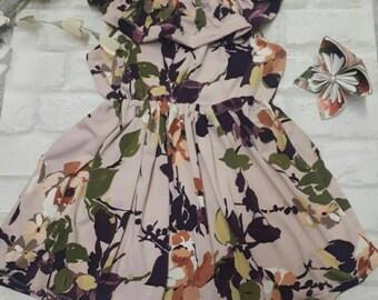Handmade Dusky purple ruffle dress