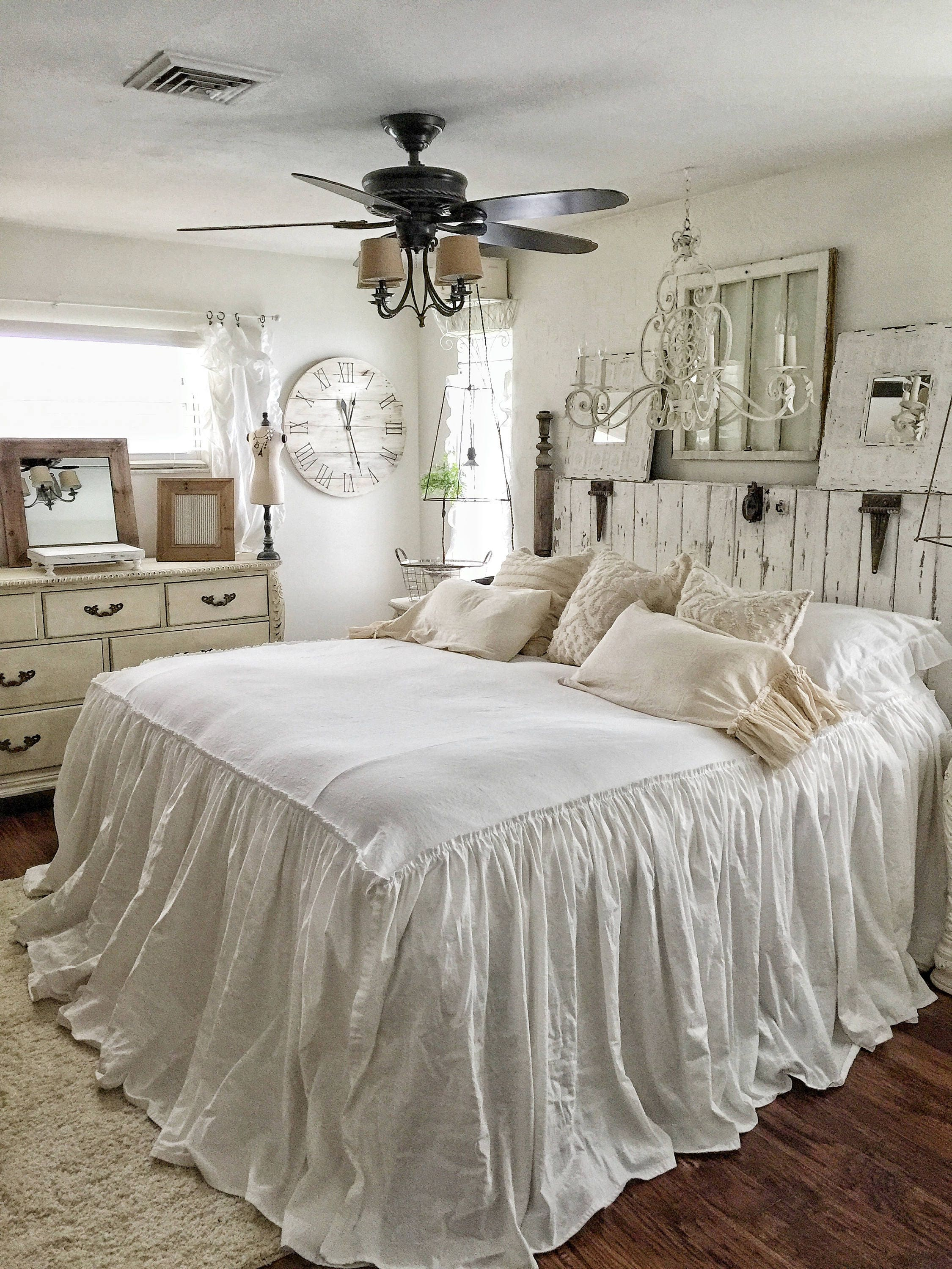 Ruffled Bedspread Shabby Chic Bedding Ruffled Bed Cover