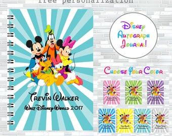 Disney autographs, Disney autograph book, Walt Disney World autographs, autograph journal, Minnie Mouse, Mickey Mouse, Donald Duck, Goofy