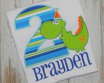 Dinosaur Birthday Shirt, Boy Dinosaur Birthday shirt, Girl Dinosaur birthday shirt, Girl shirt, Boy Birthday Shirt, sew cute creations