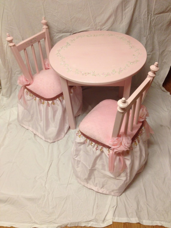 pink princess table set fairy princess table and chair set hand painted child\u0027s table set new baby gift & pink princess table set fairy princess table and chair set