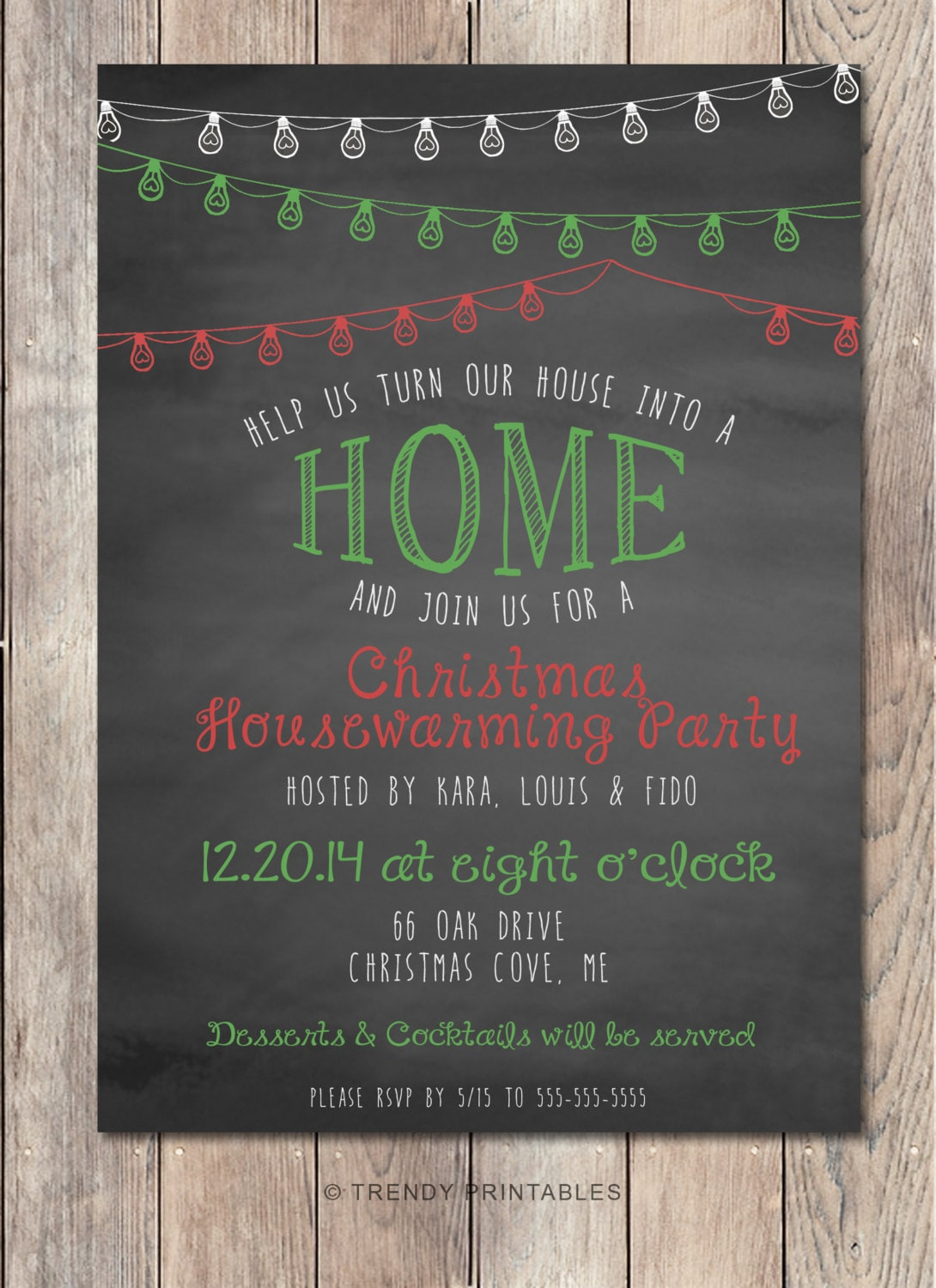 Christmas Housewarming Party Invitation Housewarming
