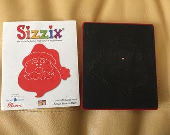 Sizzix santa head die 38-0233 rare red fabric