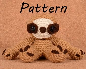 Sydney the Sloth Crochet Toy Doll Pattern